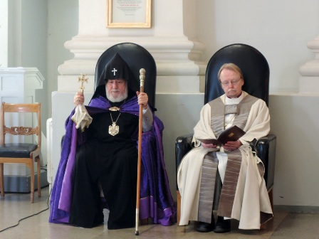 Catholicos of All Armenians Meets with Head of the Evangelical Lutheran Church of Finland